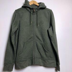 Carhartt green full zip hoodie size XL